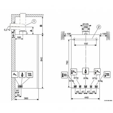 Buderus Logamax Plus GB172i 30 K dujinis kondensacinis katilas (baltas) 2