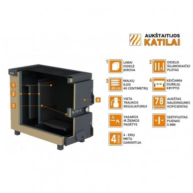 Ignis D 15 kW katilas - viryklė 2