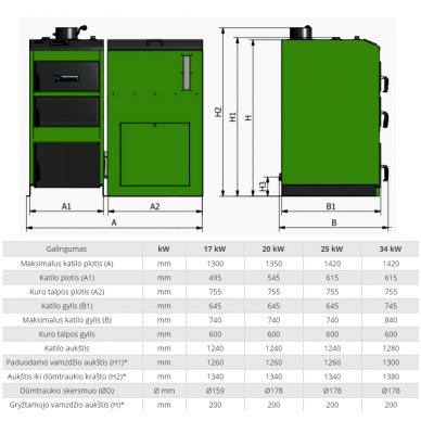 Kamen Pellet Kompakt Lux 12 granulinis katilas 2