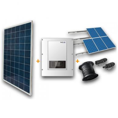 Saulės elektrinė 3,9kWp, vienfazė