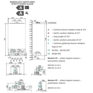 Ariston Cares Premium 24kW dujinis kondensacinis katilas 3