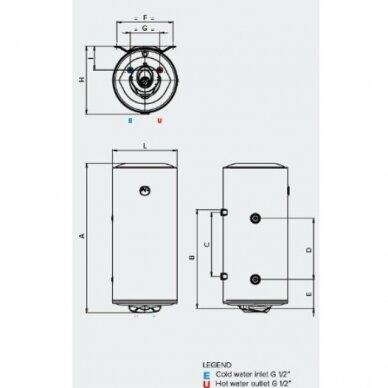 ARISTON PRO1 R 100 VTD / VTS kombinuotas vandens šildytuvas (su pasirinkimais) 2