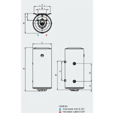 ARISTON PRO1 R 80 VTD / VTS kombinuotas vandens šildytuvas (su pasirinkimais) 2