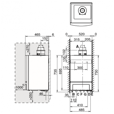 Buderus Logamax Plus GB162-45 dujinis kondensacinis katilas 3