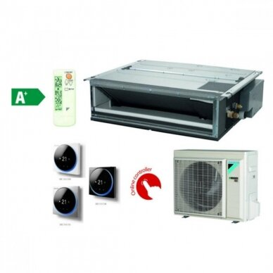 DAIKIN FDXM25F9 RXM25N9 SPLIT (IKI 40PA) ortakinis oro kondicionierius