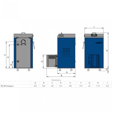 Elektromet EKO PE COMPACT 18 granulinis katilas 2