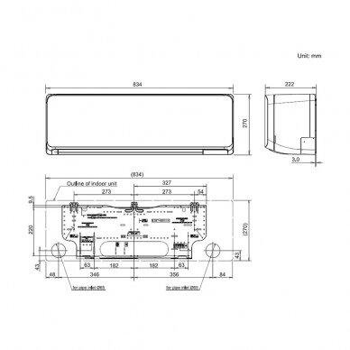 FUJITSU KM serijos ASYG07KMCC + AOYG07KMCC oro kondicionierius 2,0-2,5kw 2