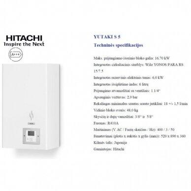 HITACHI YUTAKI S 14 kW be talpos trifazis šilumos siurblys 3