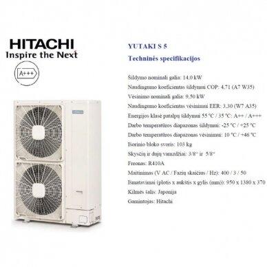 HITACHI YUTAKI S 14 kW be talpos trifazis šilumos siurblys 2