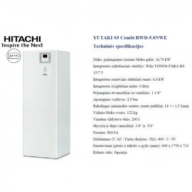 HITACHI YUTAKI S 14 kW Combi su integruotu boileriu (su pasirinkimais) 2