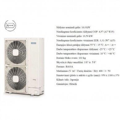 HITACHI YUTAKI S 16 kW Combi su integruotu boileriu (su pasirinkimais) 3