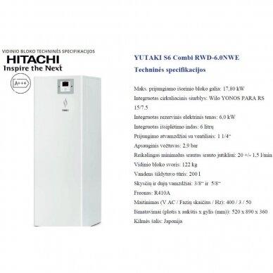 HITACHI YUTAKI S 16 kW Combi su integruotu boileriu (su pasirinkimais) 2