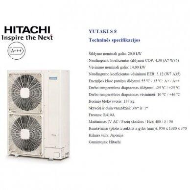 HITACHI YUTAKI S 20 kW be talpos trifazis šilumos siurblys 3
