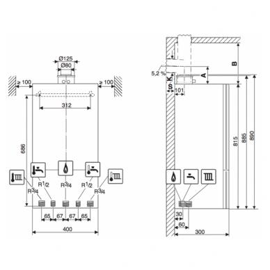 Junkers CerapurCompact ZSB24-1DE kondensacinis dujinis katilas 3