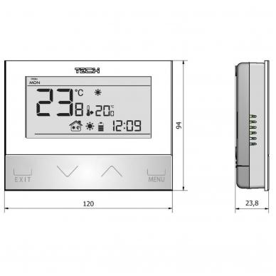 Kambario termostatas Tech 3