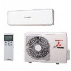 MITSUBISHI MULTI - SPLIT INVERTER lauko blokas su PREMIUM sieniniu oro kondicionieriumi 4-iems kambariams