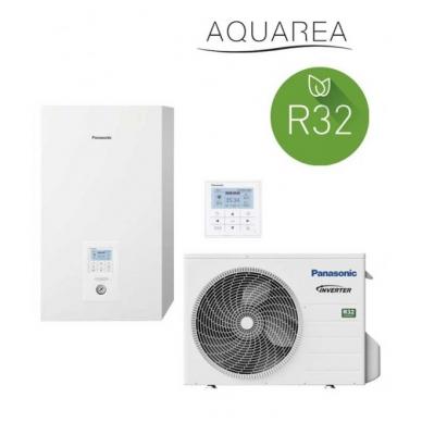 Šilumos siurblys oras/vanduo Panasonic Aquarea WH-SDC0305J3E5 WH-UD03JE5 3 kw be boilerio iki 115 m2 R32 1 fazė 2
