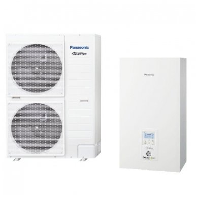 Panasonic Aquarea Bi Bloc T-CAP WH-SXC09H3E8 WH-UX09HE8 9 kW šilumos siurblys