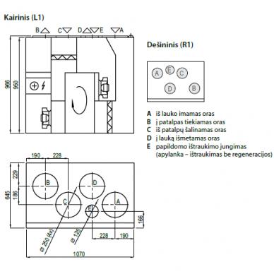 Rekuperatorius Komfovent R-700-V 2