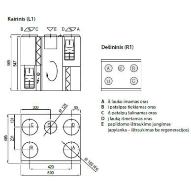 Rekuperatorius Komfovent R-400-V 3
