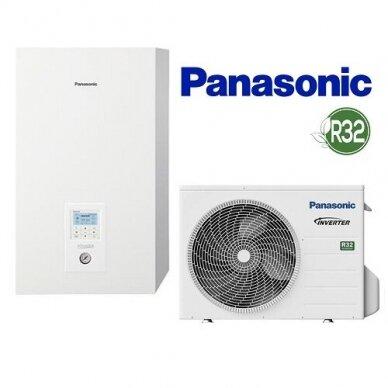 Šilumos siurblys oras/vanduo Panasonic Aquarea WH-SDC0305J3E5 WH-UD03JE5 3 kw be boilerio iki 115 m2 R32 1 fazė