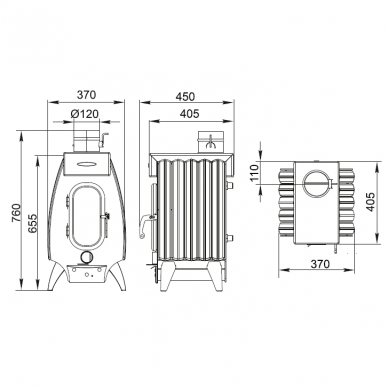 Termofor Battery 5 Light kieto kuro oro šildytuvas 3