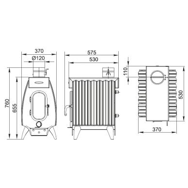 Termofor Battery 7 Light kieto kuro oro šildytuvas 3