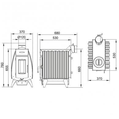 Termofor Battery 7AG kieto kuro katilas-viryklė 3
