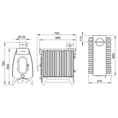 Termofor Battery 9 Light kieto kuro oro šildytuvas 3